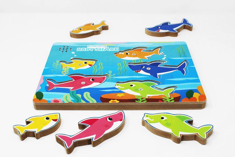 Baby Shark Chunky Wood Sound Puzzle - English Edition