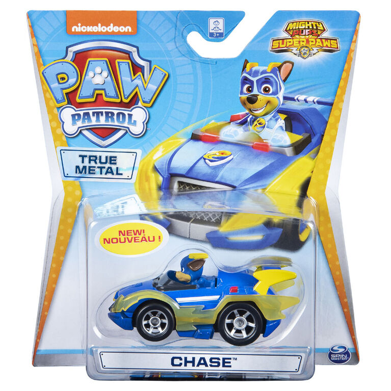 PAW Patrol - True Metal Mighty Chase Super PAWs Collectible Die-Cast Vehicle - Mighty Series 1:55 Scale