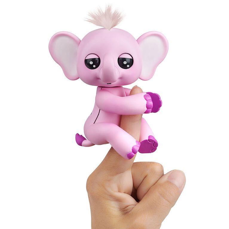 WowWee Fingerlings Baby Elephant - Nina (Pink) - Interactive Toy