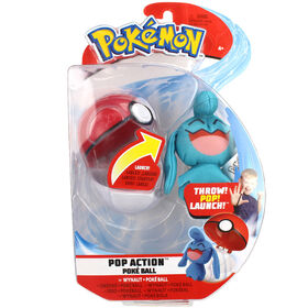 Ballon pop-action Poké - Okéoké (Wynaut) et Poké ball