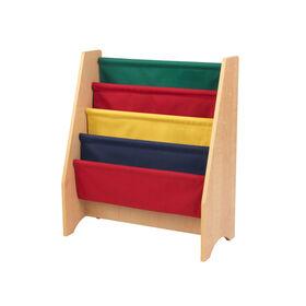 Sling bookshelf -  Primary & Natural