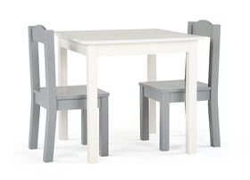 Inspire Table and 2 Chairs (white table, grey chairs)