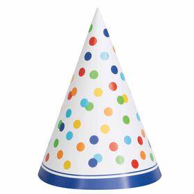 Rainbow Polka Dots Chapeaux de fête, 8un