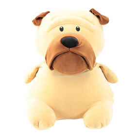 Animal Adventure Squeeze with Love - Jumbo Plush Pug - Tan
