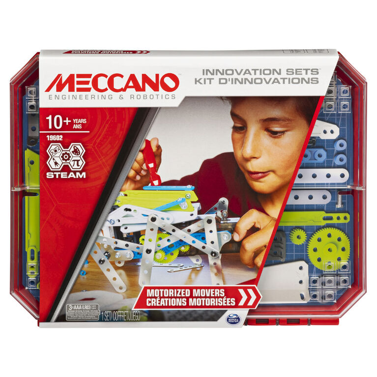 Meccano, Set 5, Motorized Movers STEAM Building Kit with Animatronics
