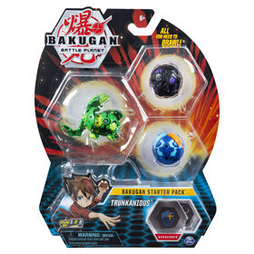 Bakugan Starter Pack 3-Pack, Trunkanious, Collectible Action Figures