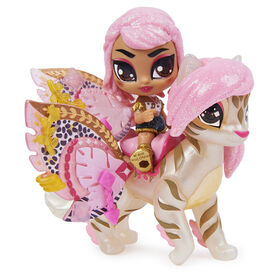 Hatchimals Pixies Riders, Wilder Wings Rhythm Rachel Pixie and Tigrette Glider with 16 Wing Accessories