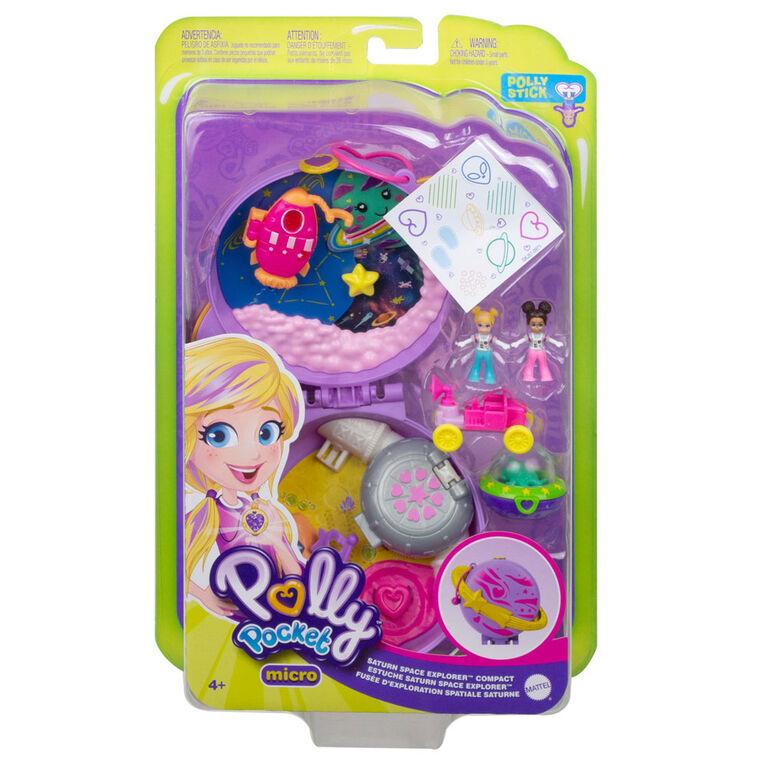 Polly Pocket - Coffret de jeu compact Fusée D'Exploration Spatiale Saturne