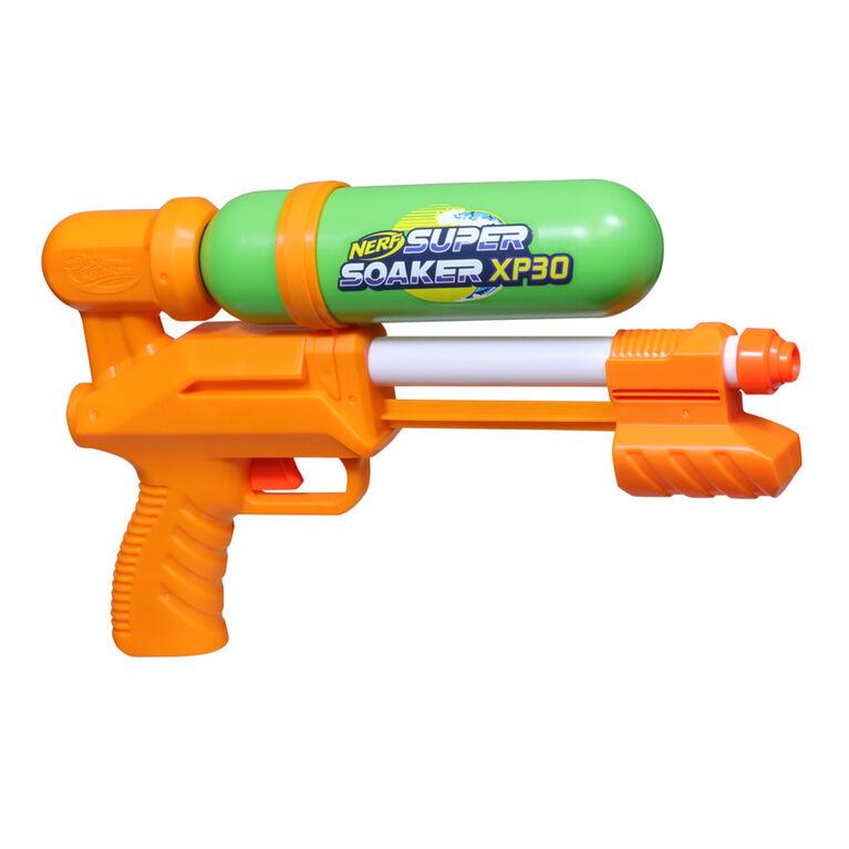 Nerf Super Soaker, blaster à eau XP30-AP jet d'eau continu à air comprimé - Notre exclusivité