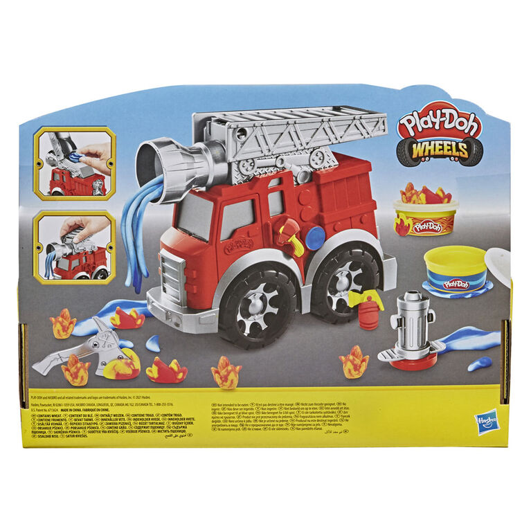 Play-Doh Wheels Fire Engine Playset with 2 Non-Toxic Modeling Compound Cans