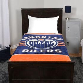 NHL Luxury Velour Blanket - Edmonton Oilers