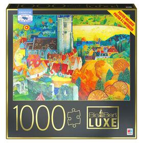 Big Ben 1000-Piece Jigsaw Puzzle, View from Corfe Castle Dorset