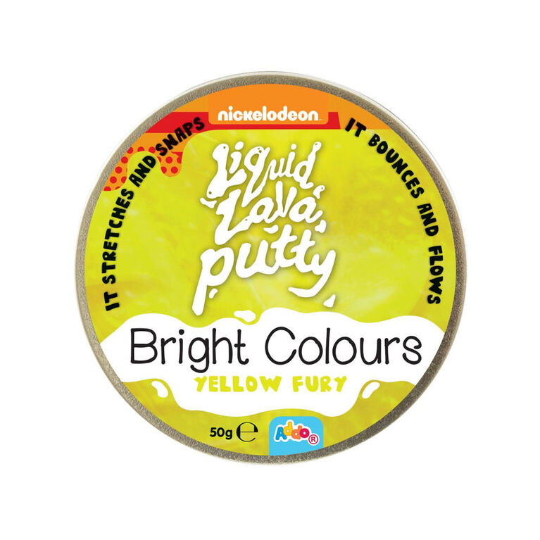 Nickelodeon Liquid Lava Putty Bright Colours Yellow Fury - R Exclusive - English Edition