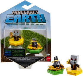 Minecraft Earth Boost Minis Undying Evoker & Snacking Rabbit Figures