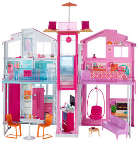 Barbie Pink Passport Deluxe 3-Story Townhouse - R Exclusive
