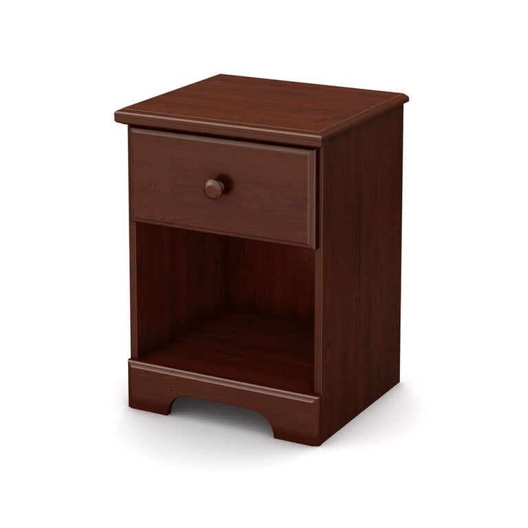 Summer Breeze 1-Drawer Nightstand - End Table with Storage- Royal Cherry