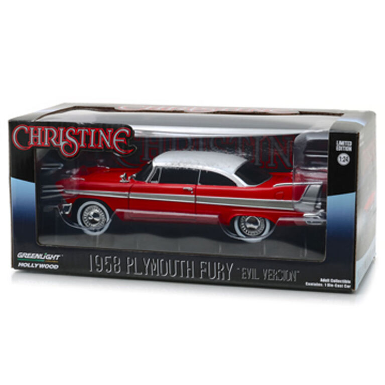 Greenlight - 1:24 Christine (1983) - 1958 Plymouth Fury (Evil Version with Blacked Out Windows)