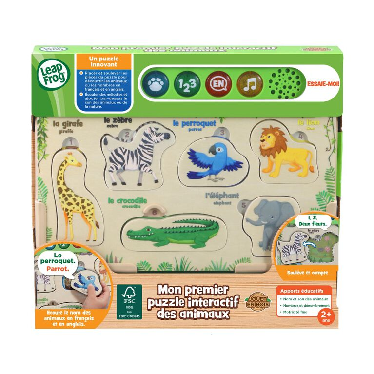 LeapFrog Interactive Wooden Animal Puzzle - French Edition
