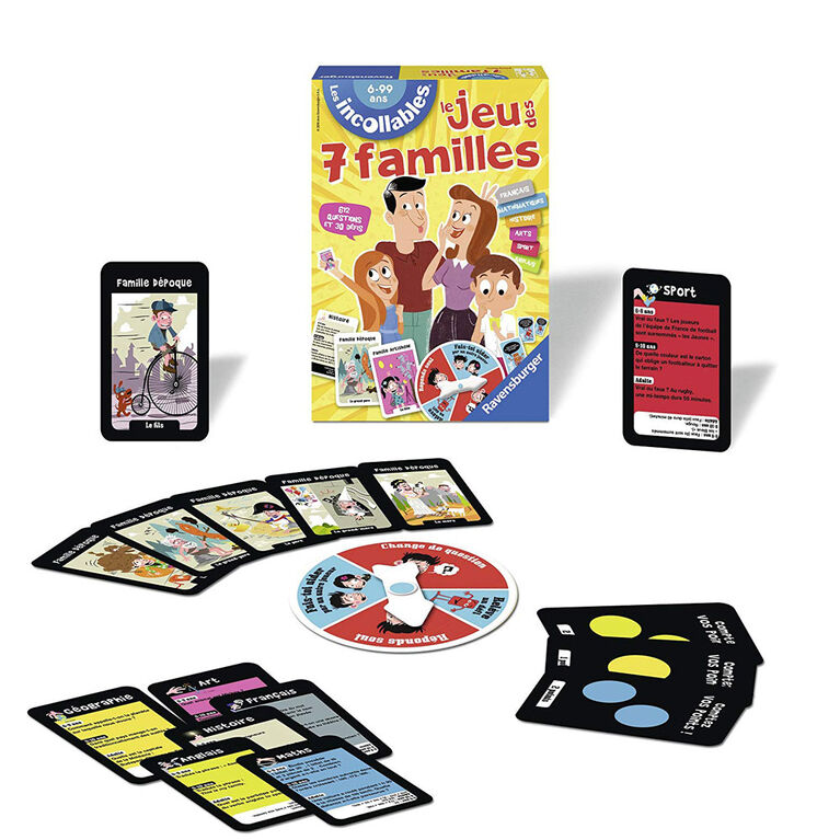 Ravensburger: The Game Of The 7 Families of the Incollables - French Edition