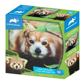 Animal Planet: Red Panda– 63 Piece 3D Puzzle