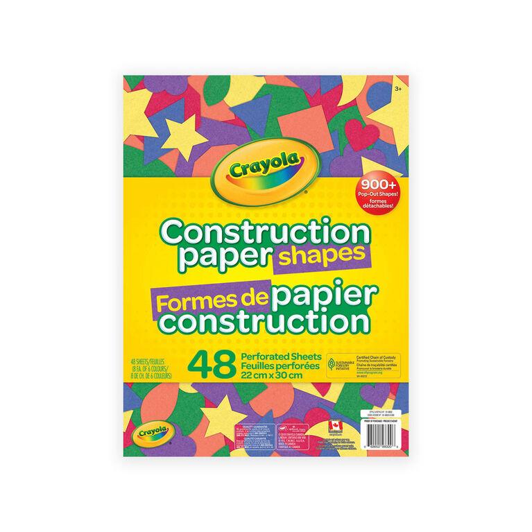 Paquet de 48 feuilles de papier de bricolage,