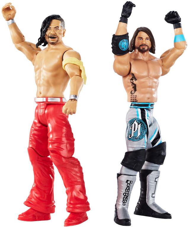WWE - WrestleMania - Coffret de 2figurines - AJ Styles vs Shinsuke Nakamura - Édition anglaise.