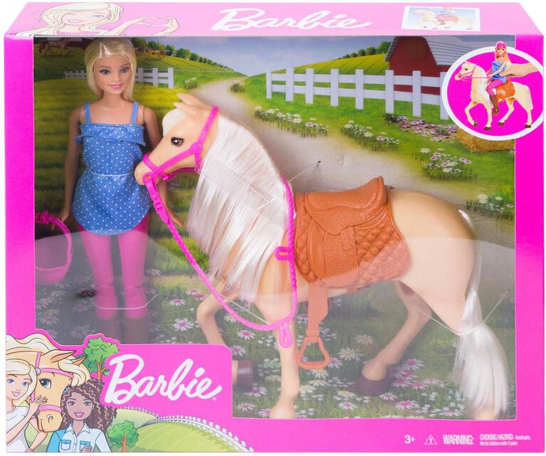 Barbie Doll & Horse