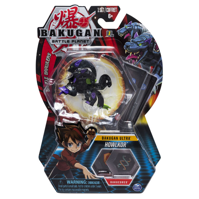 Bakugan Ultra Ball Pack, Howlkor, 3-inch Tall Collectible Transforming Creature