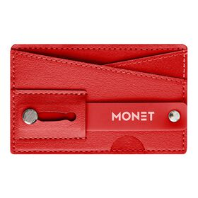 Monet Phone Wallet Grip Stand Red