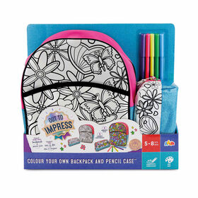 Out To Impress Colour Your Own Backpack and Pencil Case - English Edition - R Exclusive