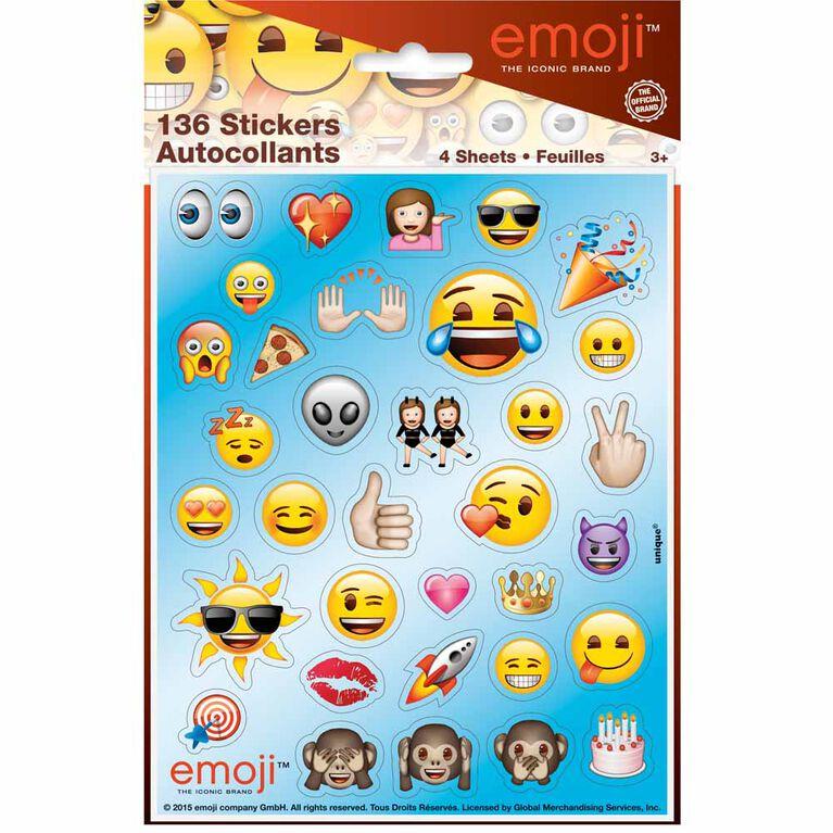 Emoji Sticker Sheets, 4 pieces