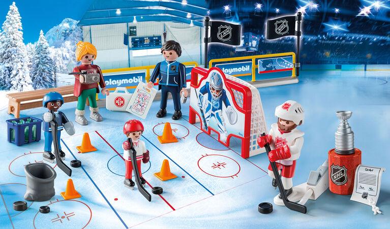 Playmobil - Calendrier de l'Avent LNH En Route vers la Coupe