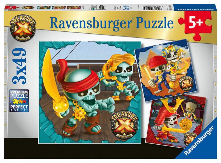 Ravensburger Treasure X Puzzle (3 x 49 piece)