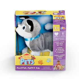 Pitter Patter Pets - Playful Puppy Pal Grey and White Husky