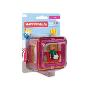 Magformers Add On Character Set - Girl