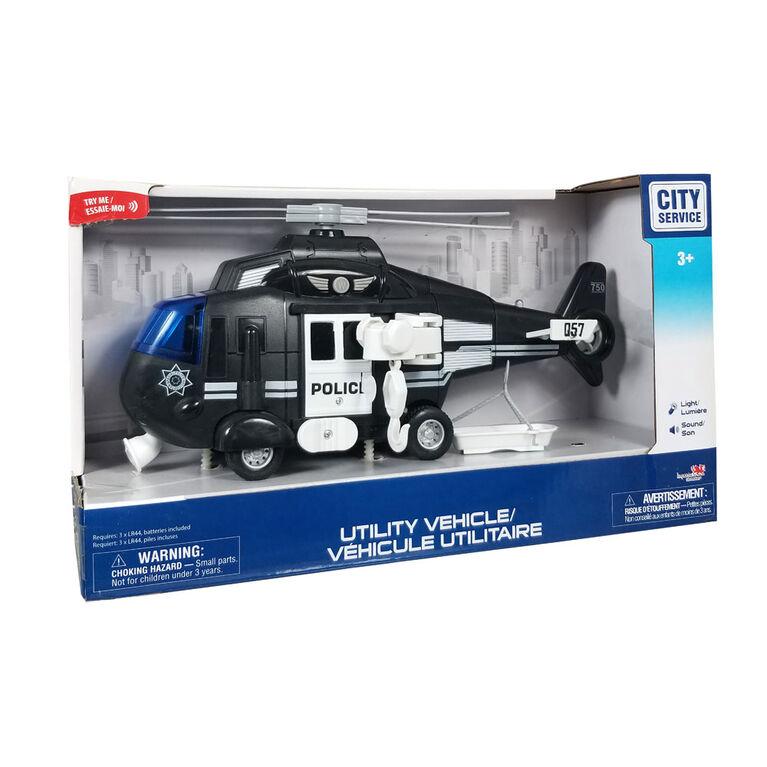 City Service: Véhicule Utilitaire:  Hélicoptère De Police