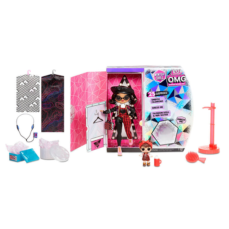 L.O.L. Surprise! O.M.G. Winter Chill Camp Cutie Fashion Doll & Babe in the Woods Doll with 25 Surprises
