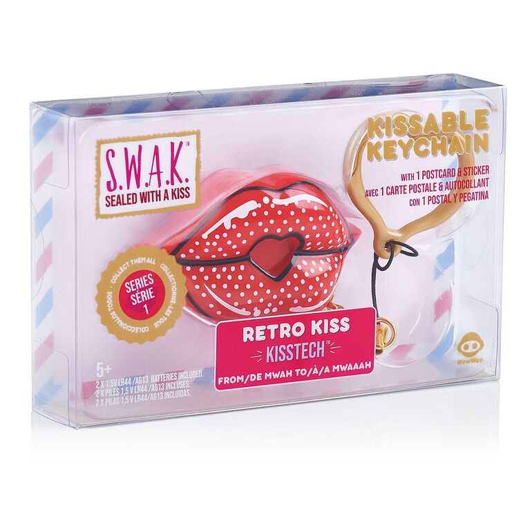 S.W.A.K. - Interactive Kissable Key Chain - Retro Kiss - By WowWee