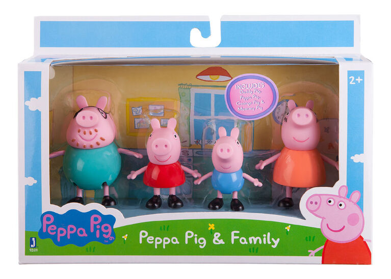"""Peppa Pig - Peppa and Family 3"""" 4 pack - English Edition"""