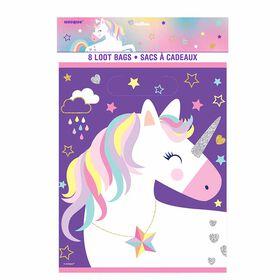 Unicorn Loot Bags, 8 pieces