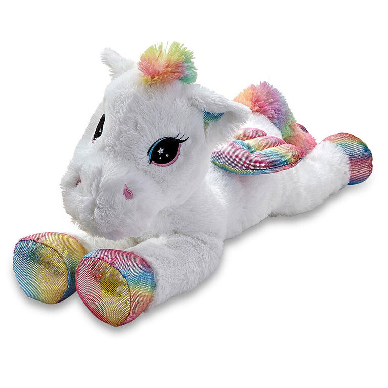 Peluche Pégase de 80 cm de Snuggle Buddies Lying Large Dreamy Friend - Notre exclusivité