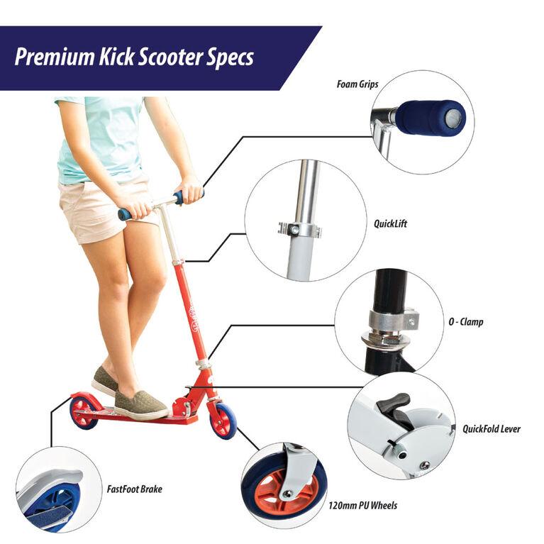 Sport Runner Premium Series Kick Scooter - Red - R Exclusive