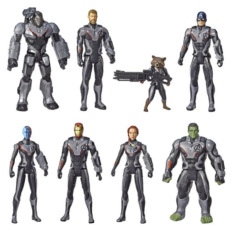 Marvel, Héros de l'univers, Titan Hero Power FX, Équipe de héros, 8figurines - Notre exclusivité