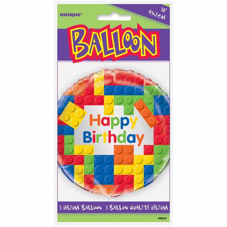 "Ballon aluminium rond, 18 "" - Building Blocks - Édition anglaise"