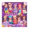 Lot de 10poupées Sparkle Girlz Little Friends