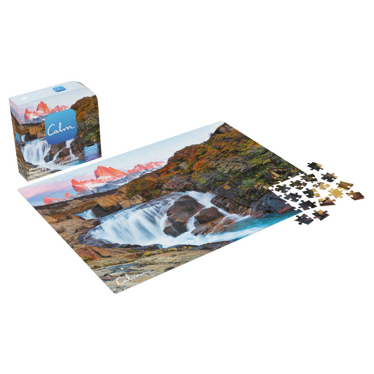 300 Piece Calm Jigsaw Puzzle for Relaxation, Stress Relief, and Mood Elevation, for Adults and Kids Ages 8 and up, Arroyo del Salto