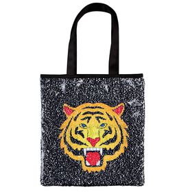 Sequins Tiger / Fierce Reveal Tote Sac.
