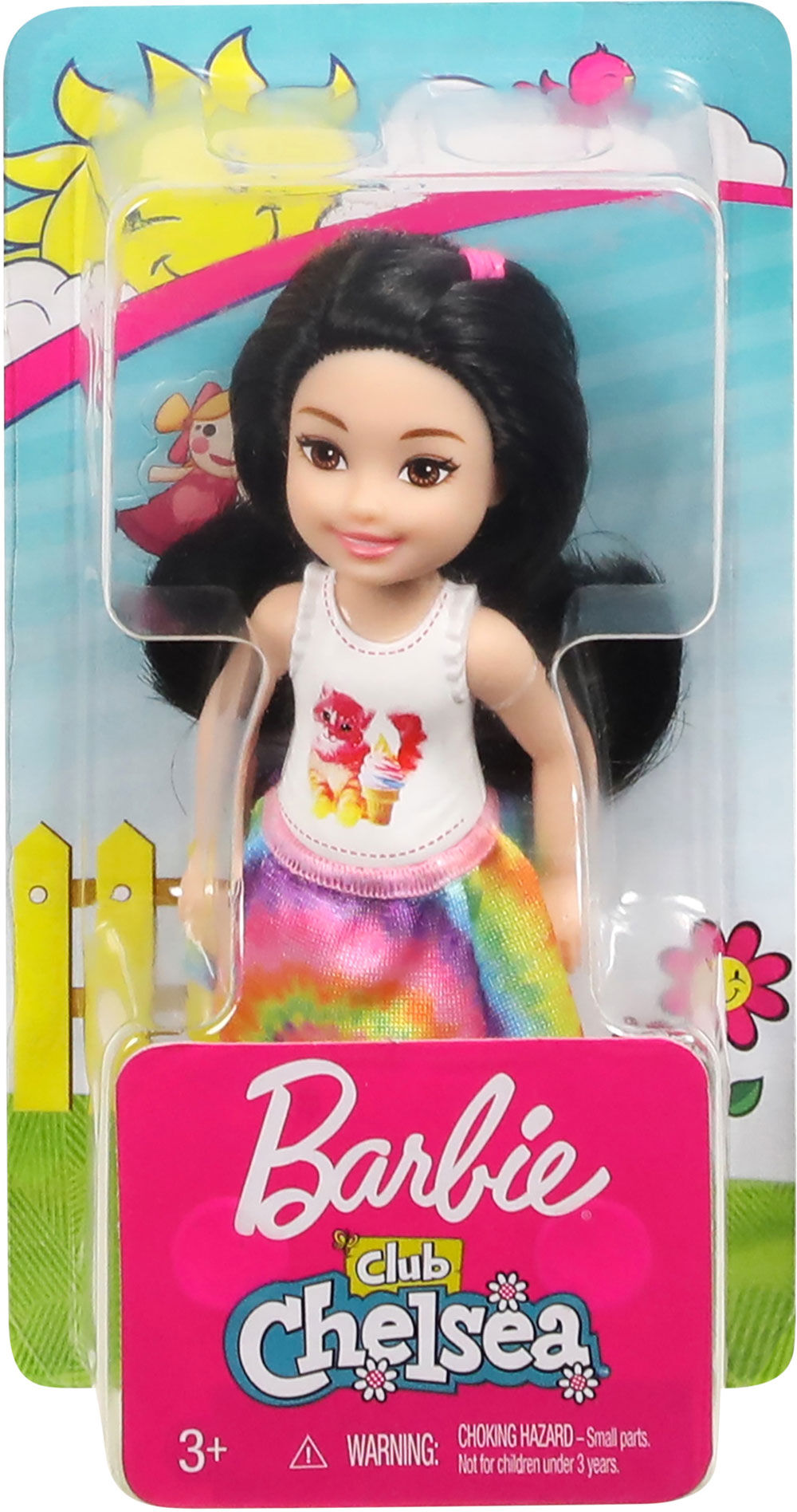 AFRICAN AMERICAN CHESEA CLUB DOLL CUTE RAINBOW DRESS ****Doll ONLY****