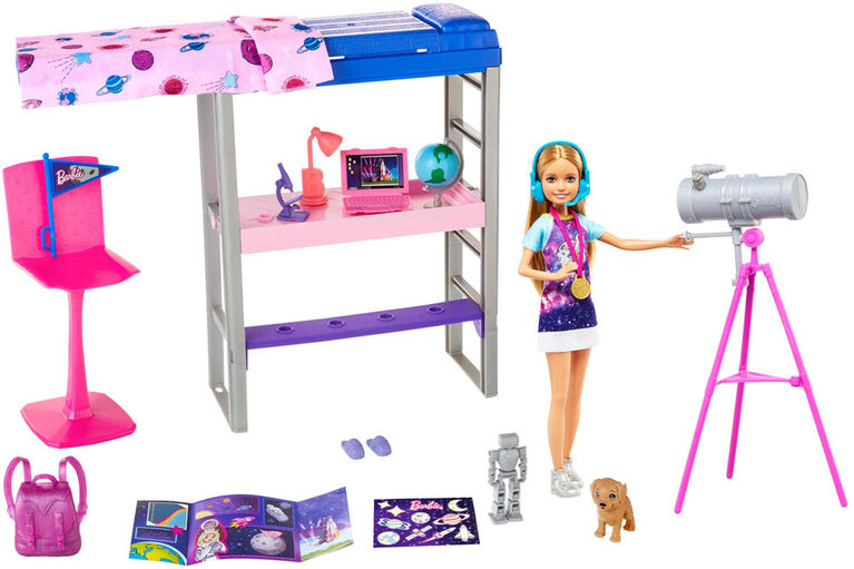 Barbie Space Discovery Stacie Doll and Bedroom Playset with Puppy and Expanding Bunk Bed - R Exclusive