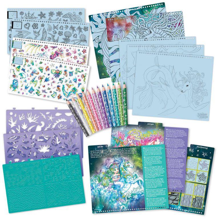 Cahier à colorier - Chevaux fantastiques - Sous la mer